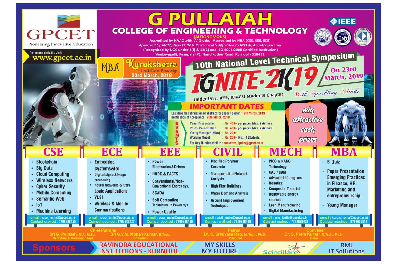 G PULLAIAH COLLEGE OF ENGINEERING & TECHNOLOGY